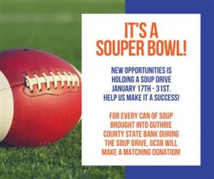 Souper Bowl Header Image with Date January 17th-31st