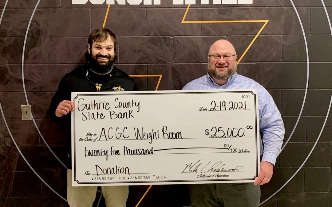 Guthrie County State Bank contributes $25,000 to the AC/GC Fitness Center